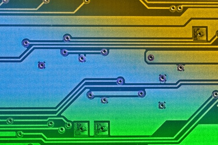 Electronic board background  Color added with editing software photo