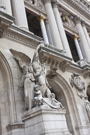 Sculpture in Opera Garnier symbolizing the instrumental music photo