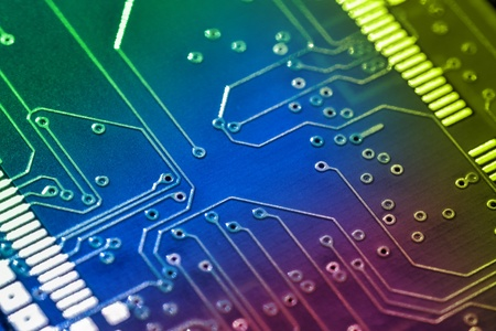 Electronic board background. Color added with editing software Stock Photo - 13102382