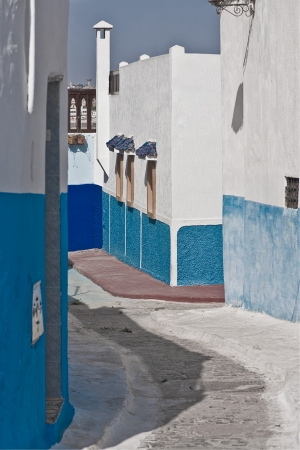 Typical Medina street in Tangier, Morocco photo