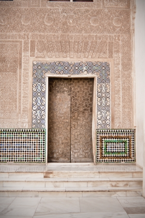 Arab door in the Alhambra in Grandda, Spain Editorial