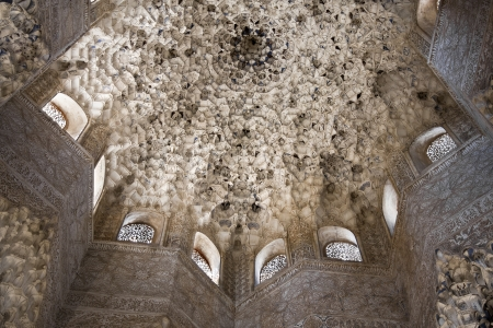 Dome of Nazaries Palace in the Alhambra in Granada, Spain