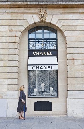 Famous Chanel shop in Vendome Square in Paris, France