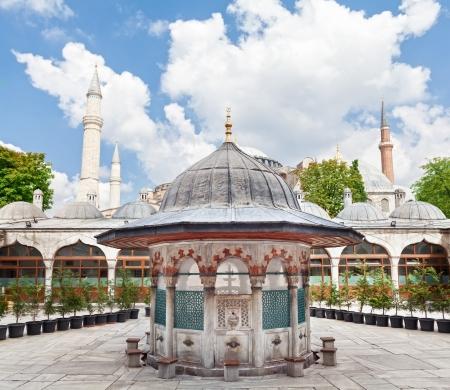 Sokollu Mehmet Pasha Camii and Hagia Sophia  Is a composition photo