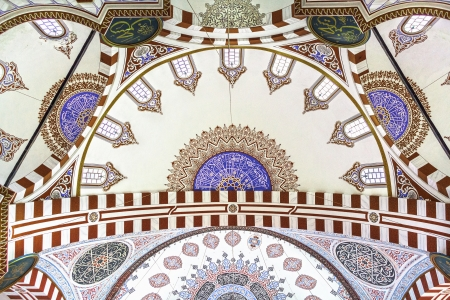 Dome in the Sehzade Mehmed Camii Mosque in Istanbul, Turkey