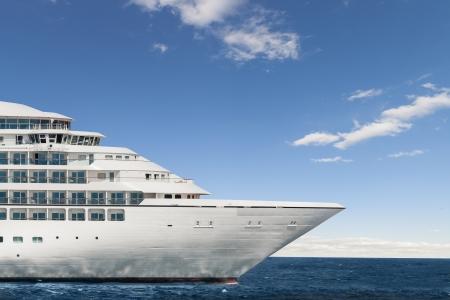 Profile of the figurehead of a cruise ship