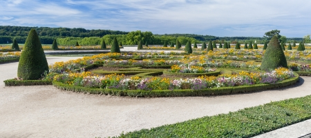 Parterre du Midi, garden in Versailles Palace in Paris, France