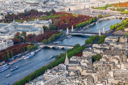 Seine river from the Eiffel Tower in Paris, France photo