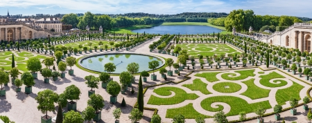 L Orangerie garden in Versailles Palace  Paris, France Editorial
