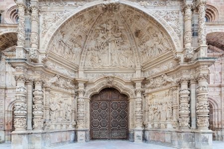 Main door of the Cathedral of Astorga in Leon, Spain photo
