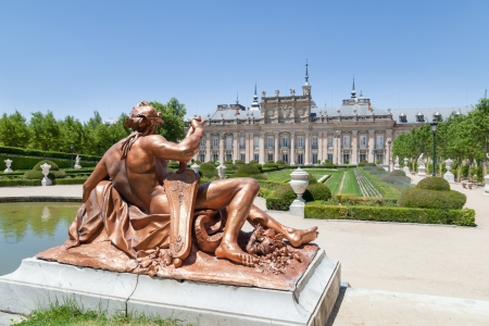 Sculpture in the Royal Palace of La Granja de San Ildefonso in Segovia, Spain