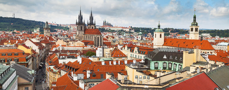Panoramic view of Prague from the Powder Tower photo
