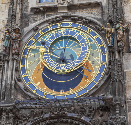 The Prague astronomical clock, or Prague orloj, is a medieval astronomical clock  Czech Republic photo