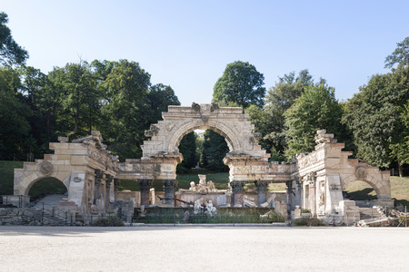 nbrunn: Originally called the Ruin of Carthage, the Roman Ruin stands at the foot of the wooded slopes of Schönbrunn Hill, Schonbrunn Palace, Vienna, Austria
