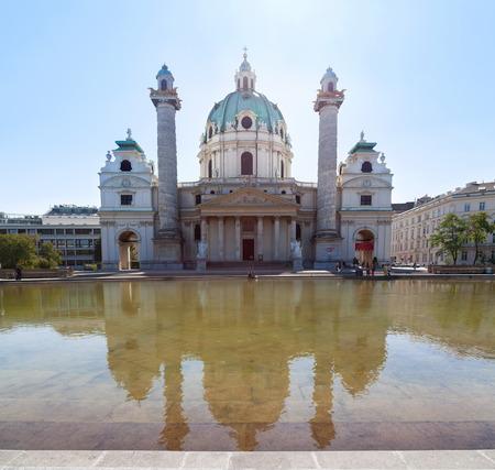 st charles: Karlskirche, o St Charles Church in Vienna Austria Archivio Fotografico