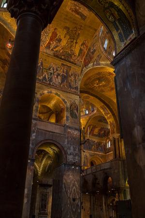 marco: Interior of the Basilica di San Marco in Venice, Italy