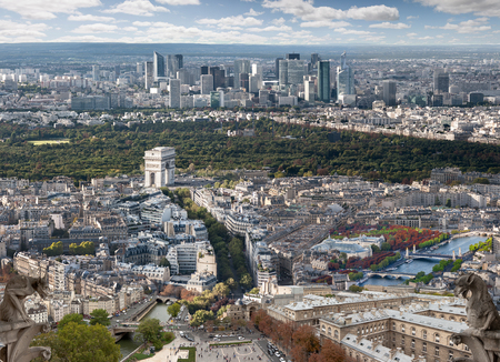aereal: Composition of different places in Paris seen from the Eiffel Tower