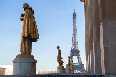 trocadero: Sculptures in Trocadero in Paris, France.