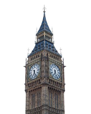 The Big Ben in white background