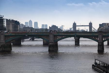 River Thames from Millenium Bridge in London, UK.