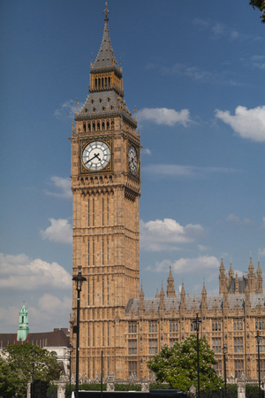 Elizabeth Tower at the north end of the Palace of Westminster in London, also known as Big Ben, is the nickname for the Great Bell of the clock.