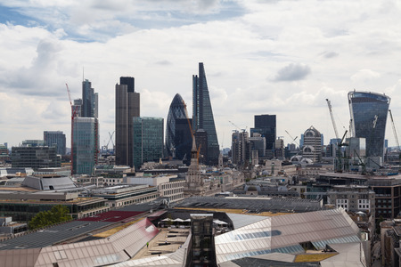 The City of London is one of the oldest financial centres and today remains at the heart of Londons financial services industry. Stock Photo