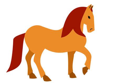 Illustration of a Elegant horse in brown 矢量图像