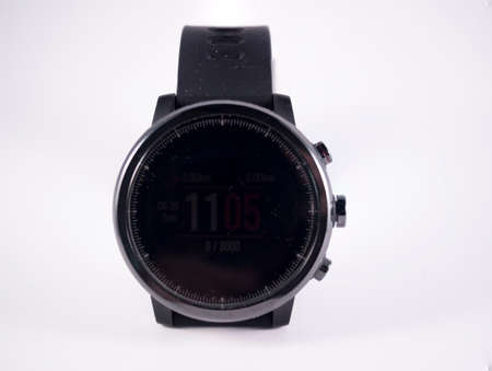 Front view of smartwatch on white background