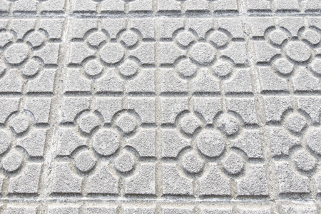 josep: Traditional pavement of the city of Bilbao, Basque Country, Spain. Probably designed by Josep Puig i Cadafalch circa 1920, first time used circa 1940, also exported to other spanish cities, or even other countries like Argentina or Equatorial Guinea. Stock Photo
