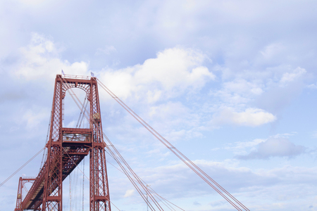 vizcaya: Section of the Vizcaya Bridge or Hanging bridge, in Portugalete, Spain Stock Photo