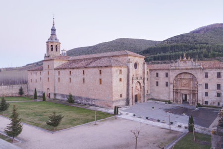 Sunset at the Monastery of Yuso, in San Millan de la Cogolla, La Rioja, Spain.