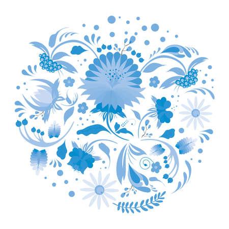 Petrikov painting vector. Petrikovskaya painting. Floral art poster. Ukrainian folk art. Suitable for design postcards, banners, t-shirts and posters.