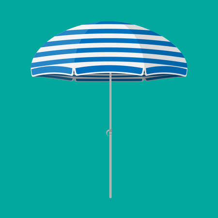 Umbrella from the sun in a flat style. Vector.