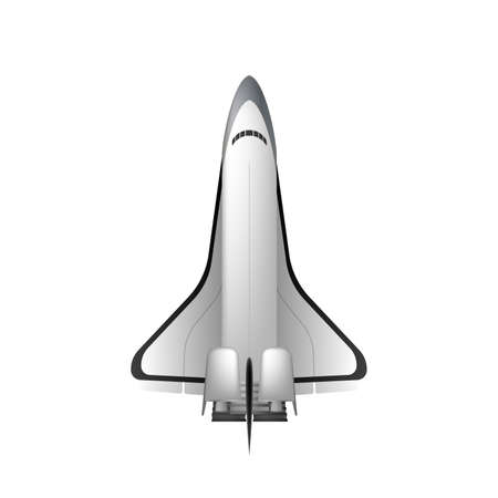 Space shuttle. Fighter isolated on a white background. Element for design on the theme of space. Isolated. Vector.