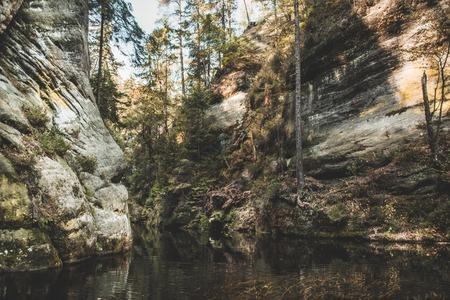 River floating in Czech republic nature