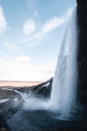Beautiful majestic waterfall Seljalandsfoss on Iceland