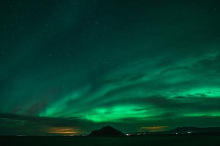 Auroras boreales en las frías noches islandesas