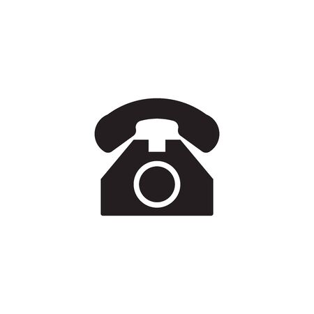 Telephone flat icon vector isolated on a white background. Flat web internet icon