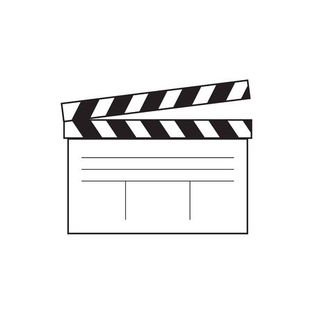movie clapper board, movie maker vector. Illustrator Reklamní fotografie - 134460509
