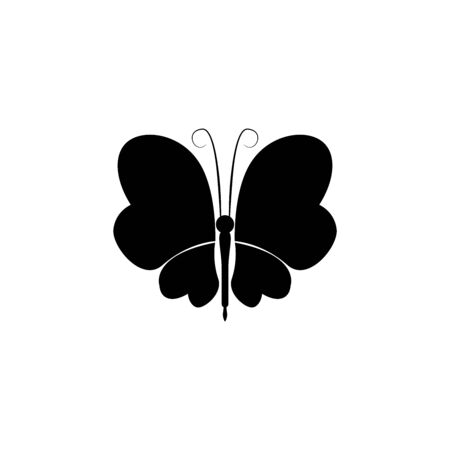 insect icon vector. butterfly vector graphic illustration. eps 10