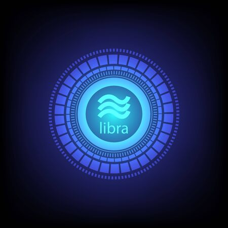 Libra cryptocurrency digital currency. vector background for technology business. eps 10 Ilustrace