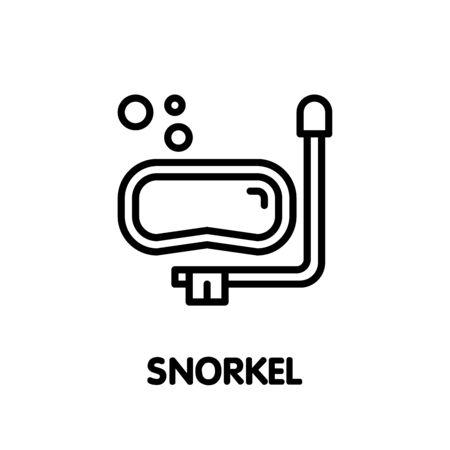 Snorkel for diving outline icon design illustration on white background