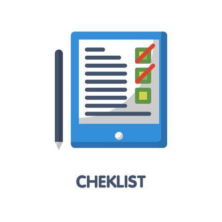 Checklist flat icon style design illustration on white background eps.10 Vector Illustratie