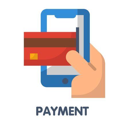 Payments flat style icon design illustration on white background eps.10