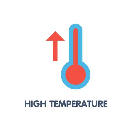 High temperature flat icon design style illustration on white background eps.10