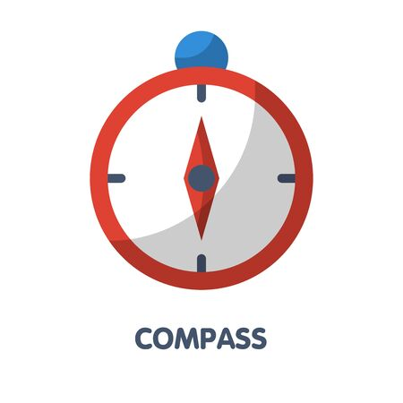 Compass flat icon vector design illustration on white background eps.10