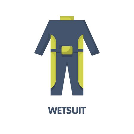 Wetsuit flat icon design, diving suit vector illustration on white background eps.10