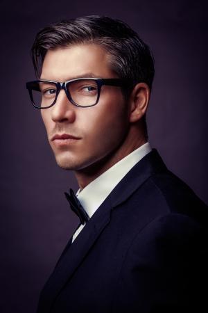 ファッション性の高いビンテージ男性の肖像画 写真素材
