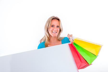 female after shopping hour smiling photo