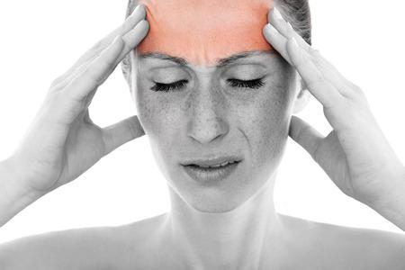 hoofdpijn: hoofdpijn Stockfoto